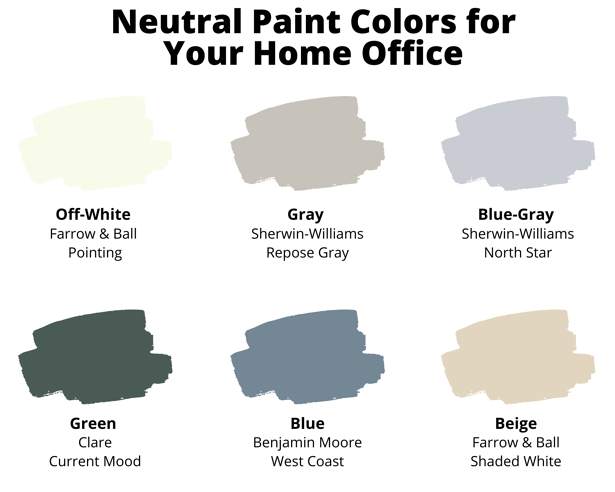 Neutral Paint Colors for Your Home Office
